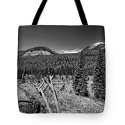 Rocky Mountain National Park Black And White Tote Bag