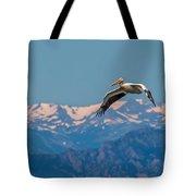 Rocky Mountain Pelican Tote Bag