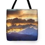 Rocky Mountain Springtime Sunset 3 Tote Bag