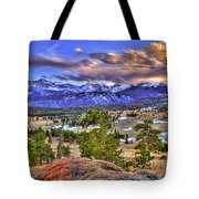 Rocky Mountain Sunset Tote Bag