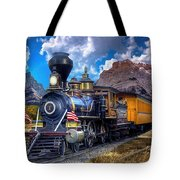 Rocky Mountain Train Tote Bag