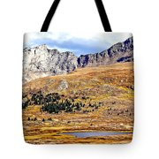 Rocky Mountain Tundra And Lake Tote Bag