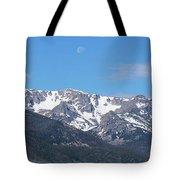 Rocky Mountain Waning Gibbous Moon Set Tote Bag