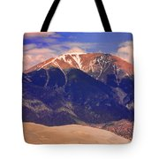 Rocky Mountains And Sand Dunes Tote Bag