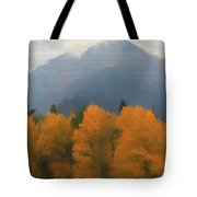 Rocky Mountains Colorado Autumn  Tote Bag