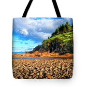 Rocky Oregon Beach Tote Bag