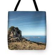 Rocky Outcrop Above Calvi Bay In Corsica Tote Bag