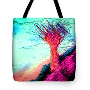 Rocky Outcrop Outline Of Quiver Tree Tote Bag