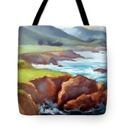 Rocky Point Afternoon Big Sur Tote Bag