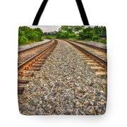 Rocky Railroad Rails Tote Bag