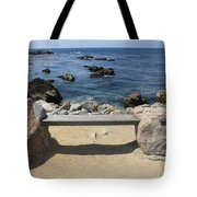 Rocky Seaside Bench Tote Bag