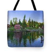 Rocky Shore Lodge Tote Bag