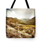Rocky Valley Mountains Tote Bag