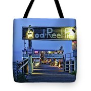 Rod And Reel Pier Tote Bag