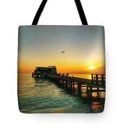 Rod And Reel Pier Sunrise 2 Tote Bag