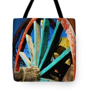 Rode Hard And Put Up - Wagon Wheel Rustic Country Rural Antique Tote Bag