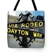 Rodeo Drive In Beverly Hills Tote Bag