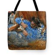 Rodeo Houston --steer Wrestling Tote Bag