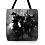 Rodeo In Black Tote Bag