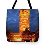 Rodertor At Twilight In Rothenburg Tote Bag