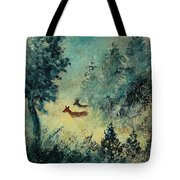 Roe Deers In September Morning Light Tote Bag