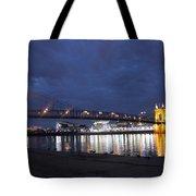 Roebling Bridge Span Tote Bag