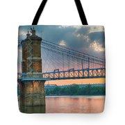 Roebling Suspension Bridge - Cincinnati, Ohio Tote Bag