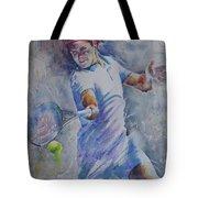 Roger Federer - Portrait 8 Tote Bag