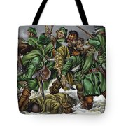 Rogers Rangers Fought A Hand-to-hand Battle In The Snow With The French And Indians Tote Bag