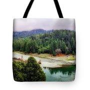 Rogue River Bend Pano Tote Bag