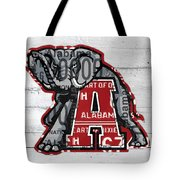 Roll Tide Alabama Crimson Tide Recycled State License Plate Art Tote Bag
