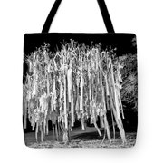 Rolled Tree Blk N White Tote Bag by Tommy Patterson