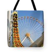 Roller Coaster And Ferris Wheel Tote Bag