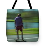 Rollerbladers In Forest Park Tote Bag