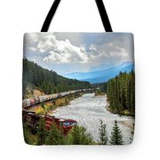 Rollin Down The Track Tote Bag