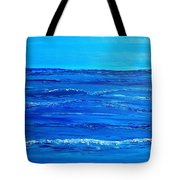 Rolling Blue, Triptych 2 Of 3 Tote Bag
