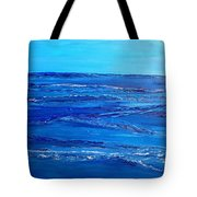 Rolling Blue, Triptych 3 Of 3 Tote Bag