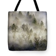 Rolling Fog In Sandy River Valley Tote Bag