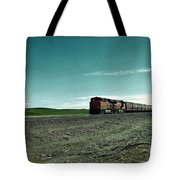 Rolling Freight Train Tote Bag