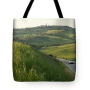 Rolling Hills Cradle A Winding Road Tote Bag