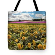 Rolling Hills Of Flowers In Summer Tote Bag