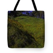 Rolling Hills With Poppies Tote Bag