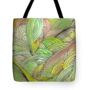 Rolling Patterns In Greens Tote Bag