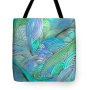 Rolling Patterns In Teal Tote Bag