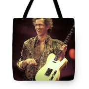 Rolling Stones Keith Richards Painting Tote Bag