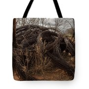 Rolls Of Barbed Wire Tote Bag