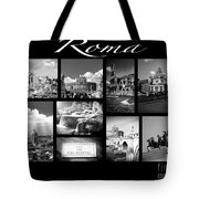 Roma Black And White Poster Tote Bag