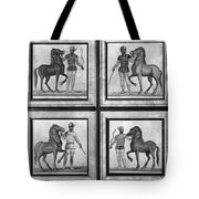 Roman Mosaic: Charioteers Tote Bag