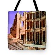 Roman Ruins At Sabrayha Tote Bag
