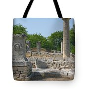 Roman Ruins Near St. Remy In Provence Tote Bag